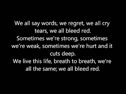 bleed red