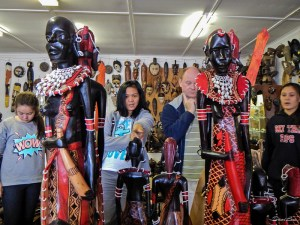 Shopping at Curio D'Afrique in Graskop, South Africa - taken with a Nikon Coolpix AW110