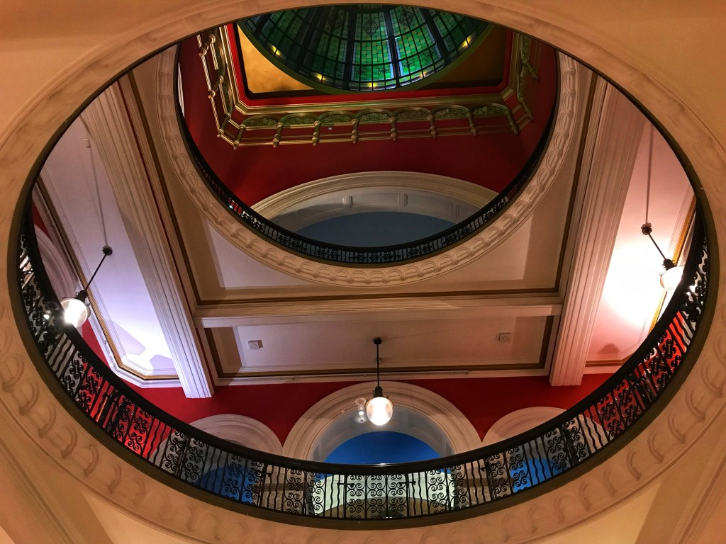 The Queen Victoria Building interior in downtown Sydney