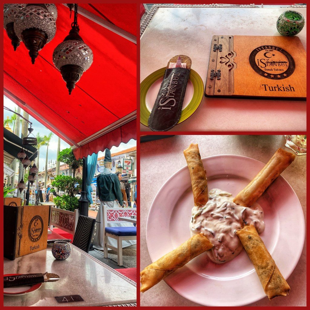 Collage of the Istanbul Turkish Restaurant on my Kampong Glam Tour in Singapore with the bitemojo app - images taken with an iPhone XS