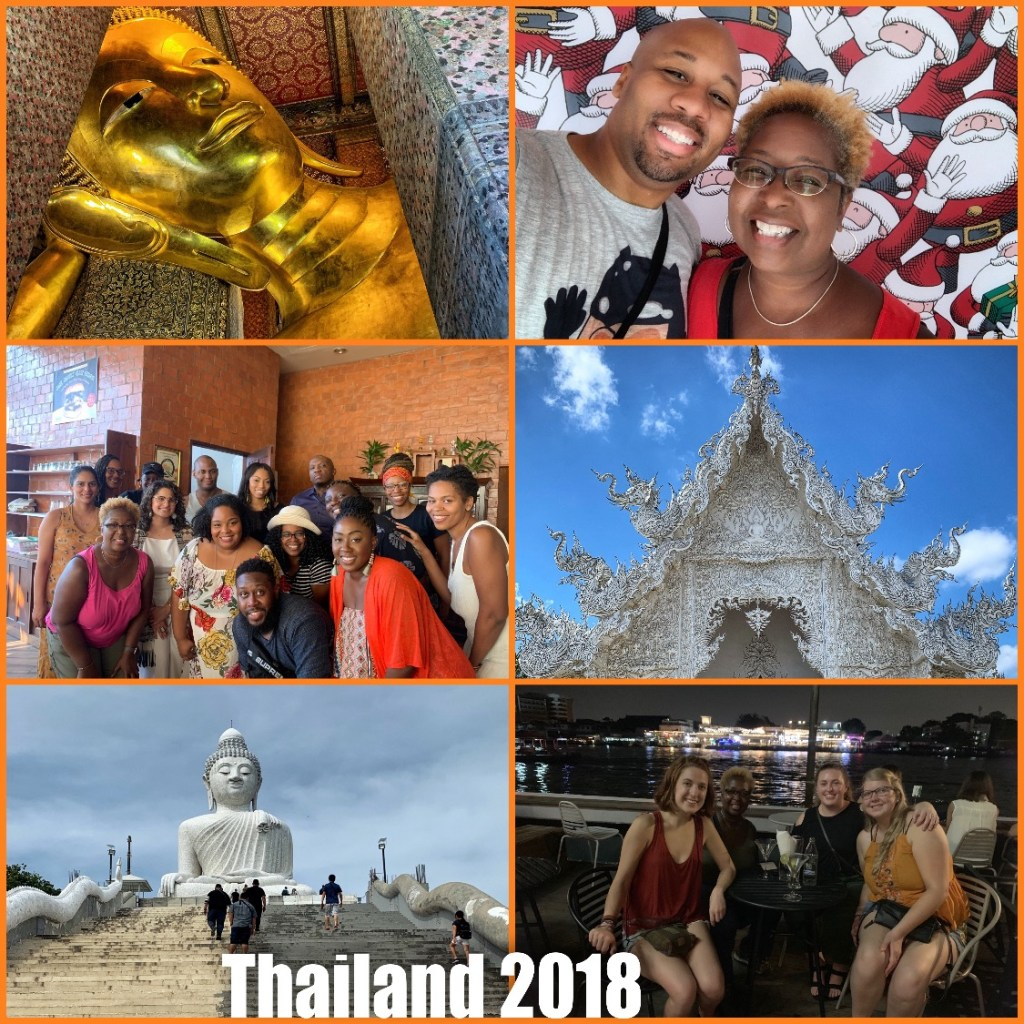 Picture collage of my visit to Thailand in 2018