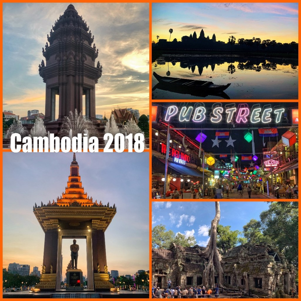 Picture collage of my visit to Cambodia in 2018