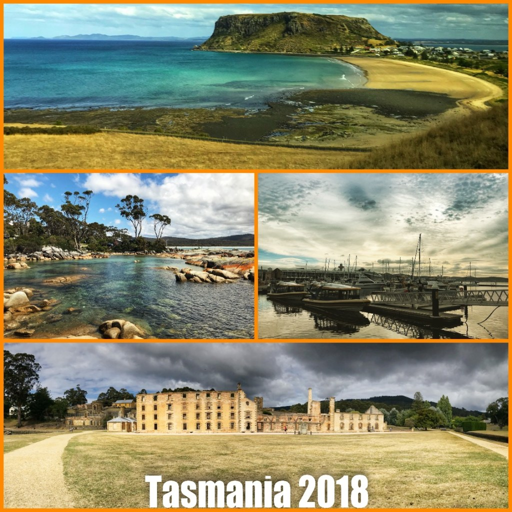 Picture collage of my visit to Tasmania Australia in 2018