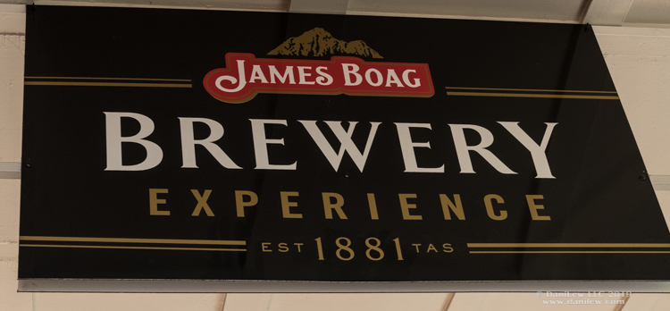James Boag Brewery Experience wall-hanger - image taken by DaniLew LLC with a Nikon D500 and Nikon 16-80 lens