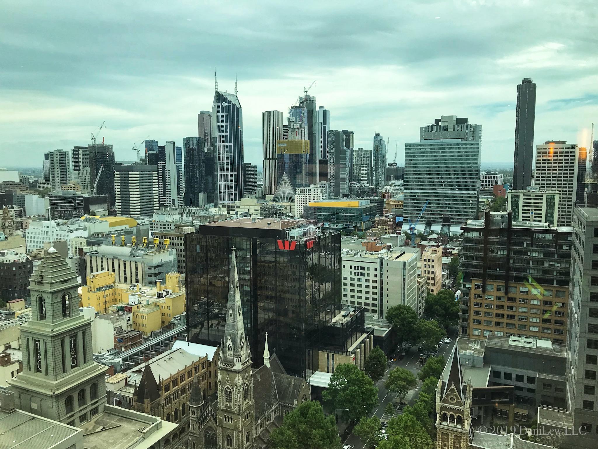 Melbourne Skyline as viewed from the Grand Hyatt - image taken with an iPhone 7