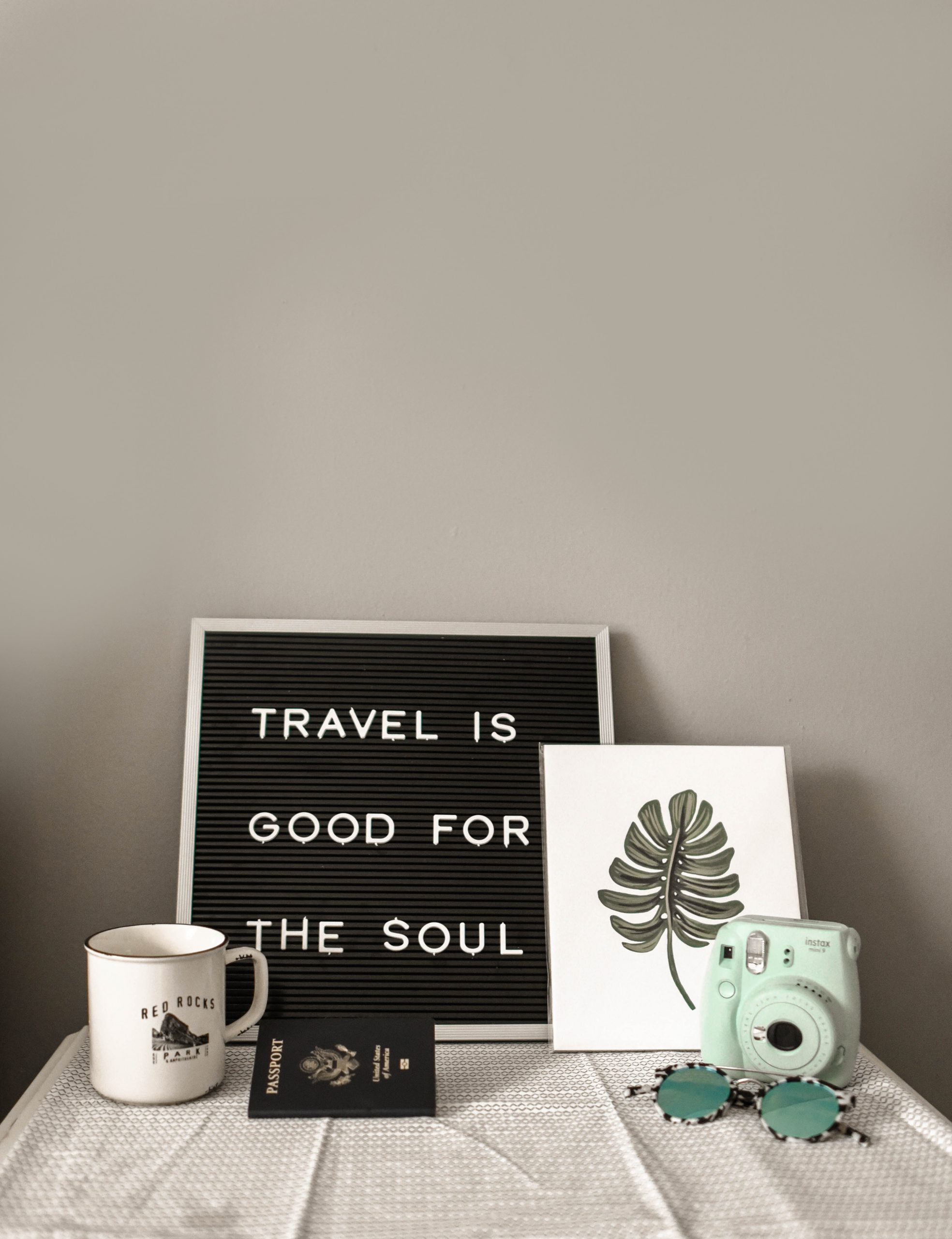Travel Is Good For the Soul sign on SelfishMe Travel