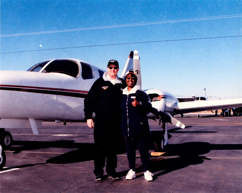 DaniLew as co-pilot on Las Vegas to Grand Canyon flight on the Slow Traveling Soul Sister blog