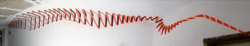 Titelbild- Abstrakte Spirale- 3D Tape Art Graffiti- Bewegung