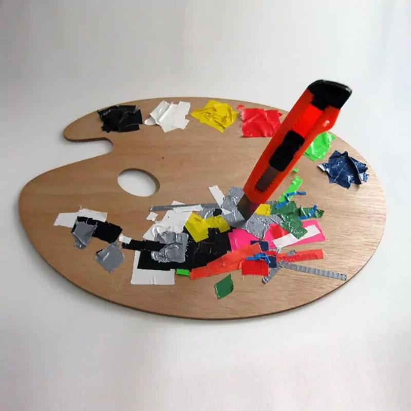 Palette-Tape Künstlers Farben-Ostap 2012
