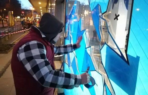 Künstler buchen- Selfmadecrew bei der Arbeit