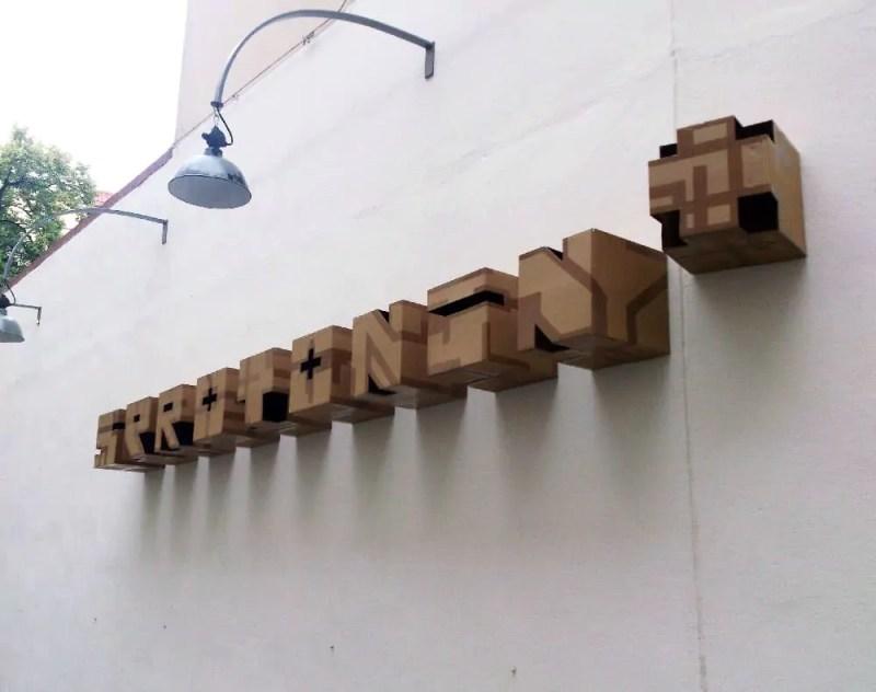 3d Art by Ostap- Cardboard graffiti- 2013