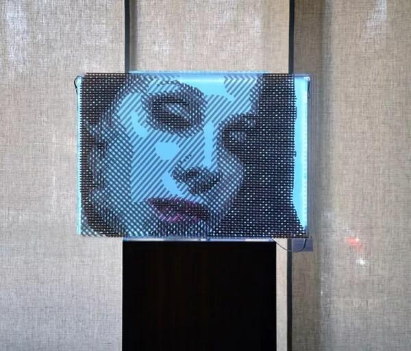 Frauen Porträt- 3D Optische Illusion Kunstwerk aus Klebeband- FAQlove Reloaded- Ostap 2014