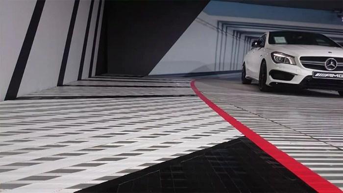 Commissioned tape art order for Mercedes AMG DTM Team