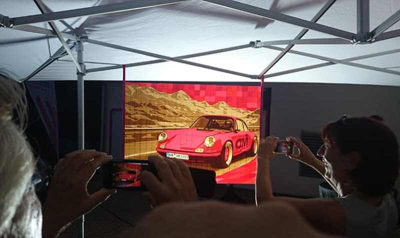 Presentation of Porsche 911- packing tape art commission by Ostap- 2015