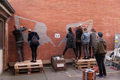 Tape street art workshop- Selfmadecrew for red bull