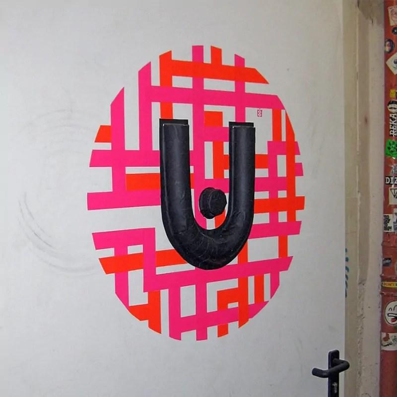 urban spree-3d klebeband graffiti-künstler ostap 2013- seitenansicht