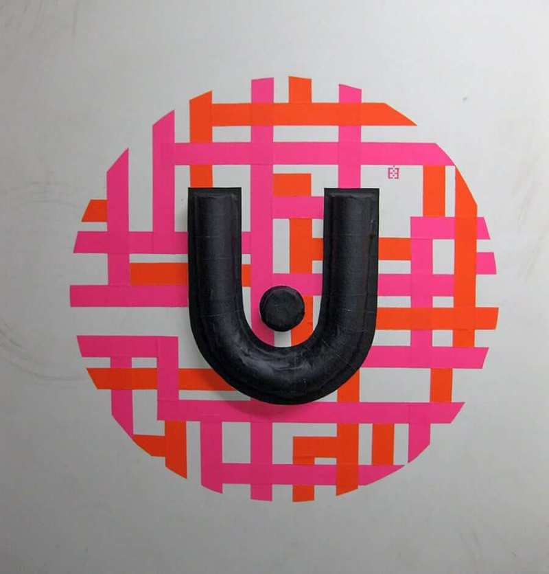 urban spree logo-3d duct tape graffiti