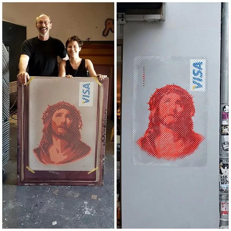 Jesus-Visa-Card- Signnedprints Galerie Kasten-Limited Edition Print- Ostap