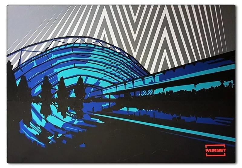 Fertiges Tape Art Kunstwerk nach einer Live Show- Projekt für Leipziger Messe