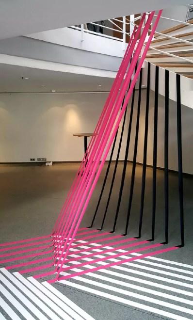 Image 01- 3D duct tape installation for Gruner+Jahr DGPS event- Hamburg 2016