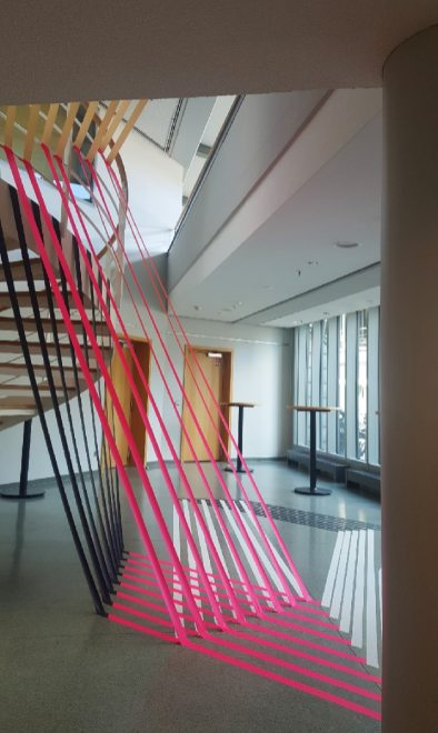 Image 02- Abstract interior design with tape for Gruner+Jahr event- Hamburg 2016
