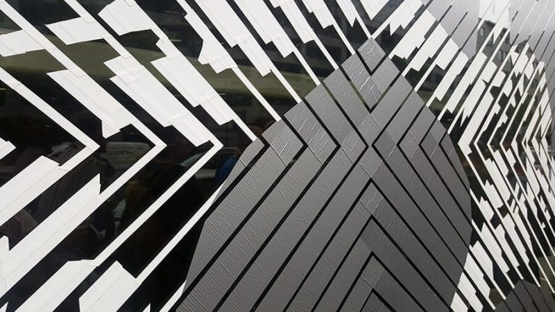 The Haus Berlin Art Bang- Logo- duct tape street art- Close-up