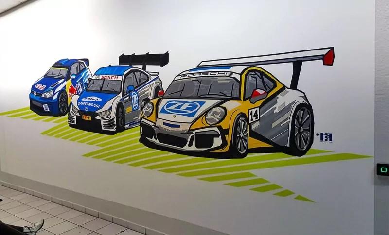 Klebeband-Graffiti-Auftragskunst-Fahrzeugteile-Hersteller-ZF-sotchart-Schweinfurt-2016