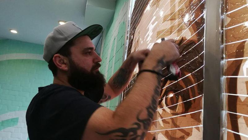 Selfmadecrew founder Ostap sticks to the brown tape portraits