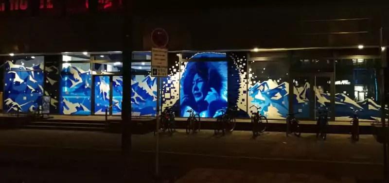 Tape Street Art- Selfmadecrew- Spandauer Straße in der Nacht