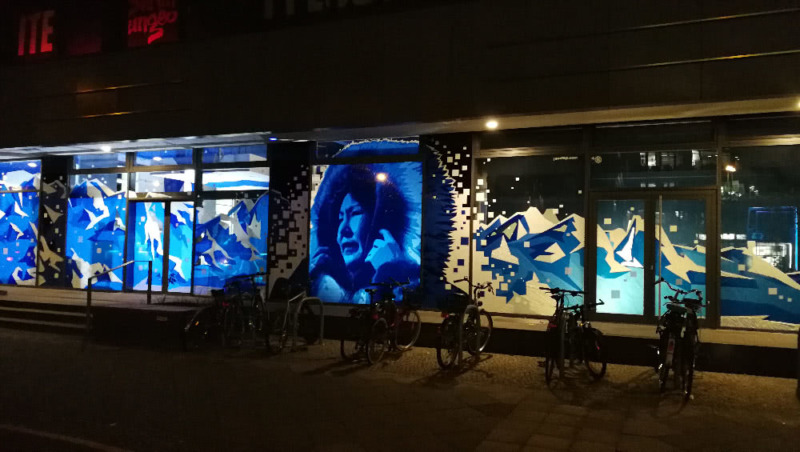 Street Art mit Paketklebeband- Angiyok Projekt-Berlin 2018