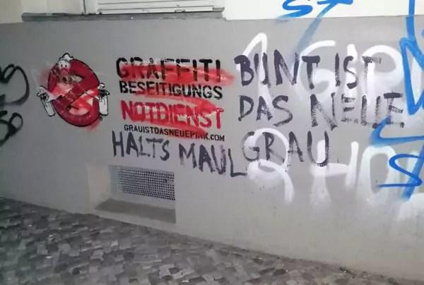 Erste Ablehnung- Grau ist das neue Pink- Graffiti