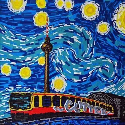 Berlin Starry Night- Van Gogh- Tape-Art- Beitragsbild