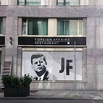JFK Portrait-Klebeband Street Art- Ostap 2015