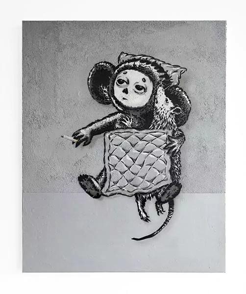 After Love- Stencil-Kunst auf Leinwand