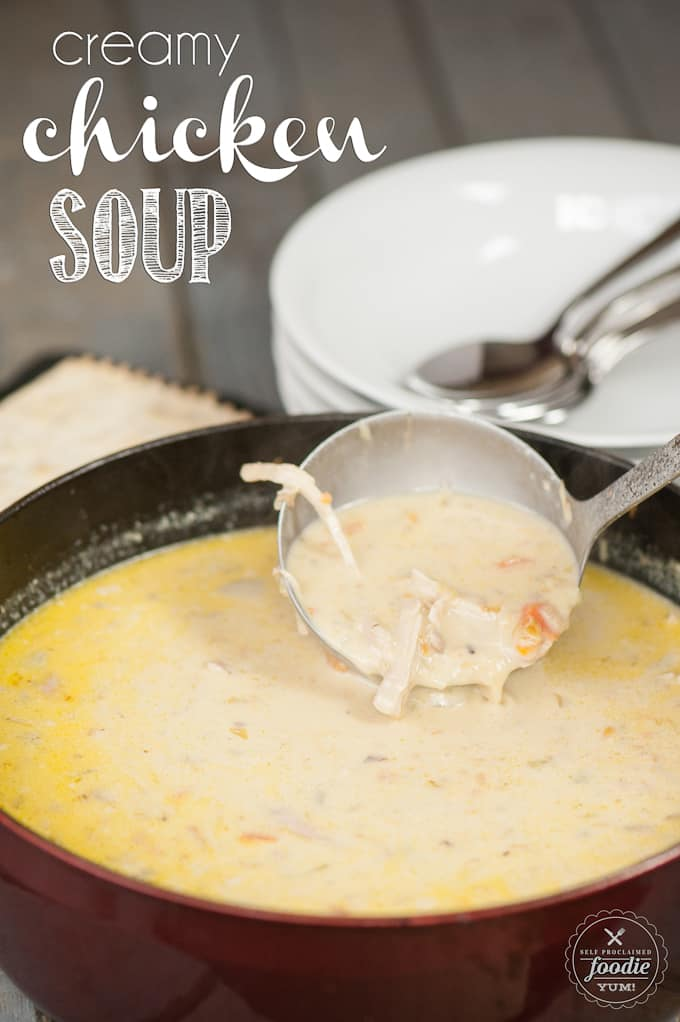 Creamy Chicken Soup Recipe Self Proclaimed Foodie