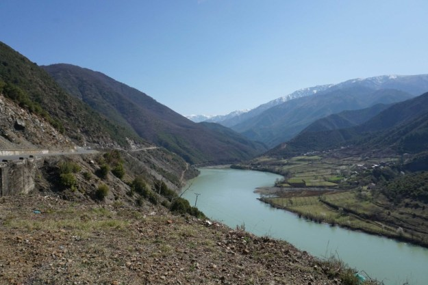 Winding our way up into the hills of northern Albania