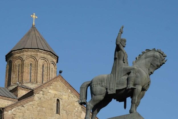 King Vakhtang, founder of Tbilisi.