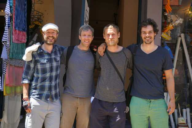 With Mike, Gary and Wolfgang at Batumi Hostel