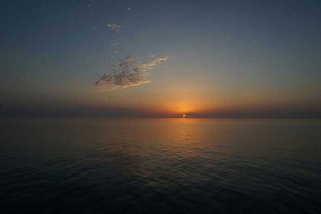 Sunset on the Caspian Sea