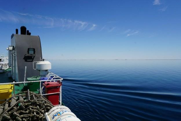 Caspian Sea from my ferry, Balakan