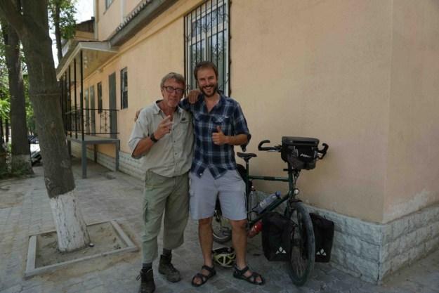 With Alain Brunelle at Shams Hotel, Aktau