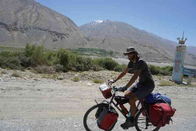 In the Wakhan with Seweryn, who cycled from Poland to Bishkek