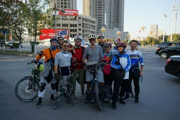 Photo opp with Changji Cycle Club