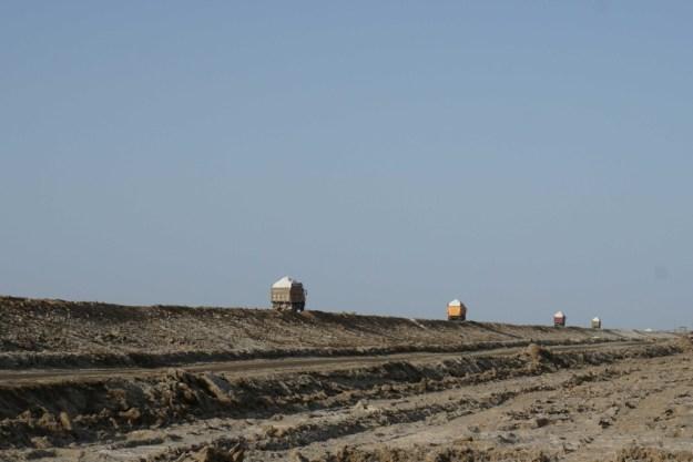 Salt field near Golmud