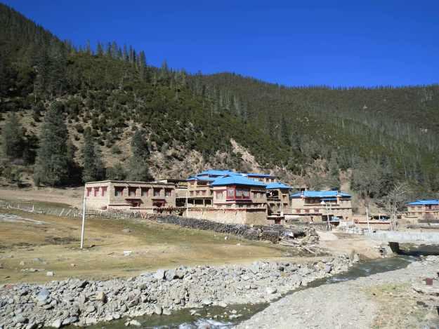 Tibetan village in southern Sichuan