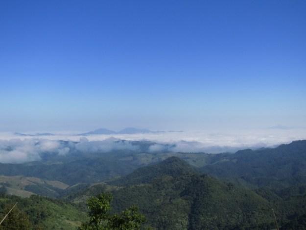 Temperature inversion on the road to Phonsavan, Laos