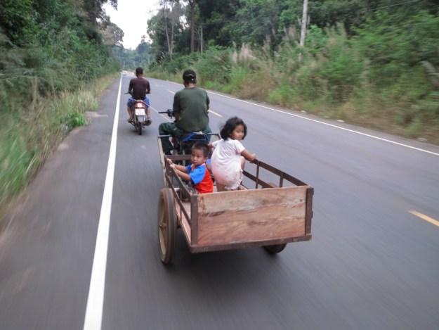 Approaching the Thai-Cambodia border near Sisaket
