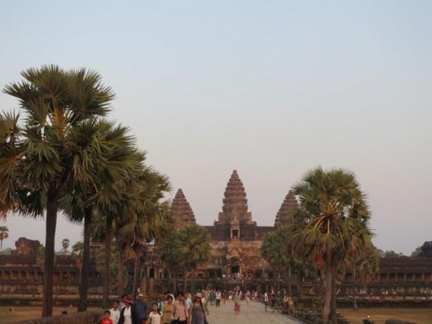 Angkor Wat, Cambodia, at sunset