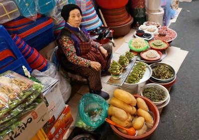 Trader in Gwangjang Market.