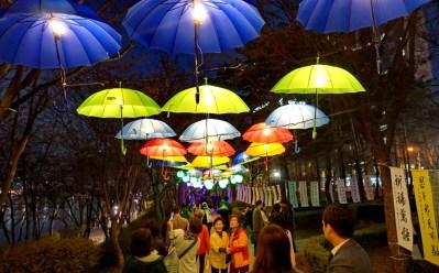 Nightlights at the cherry blossom festival, Jamsil Lake, Seoul
